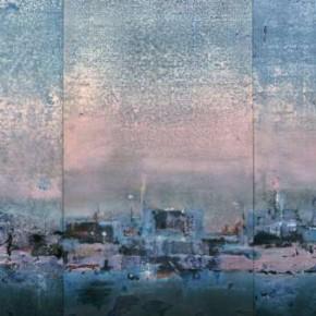 23 Zhou Jirong-Fantastic City No. 1, Mixed media on canvas, 135 x 241 cm , 2008