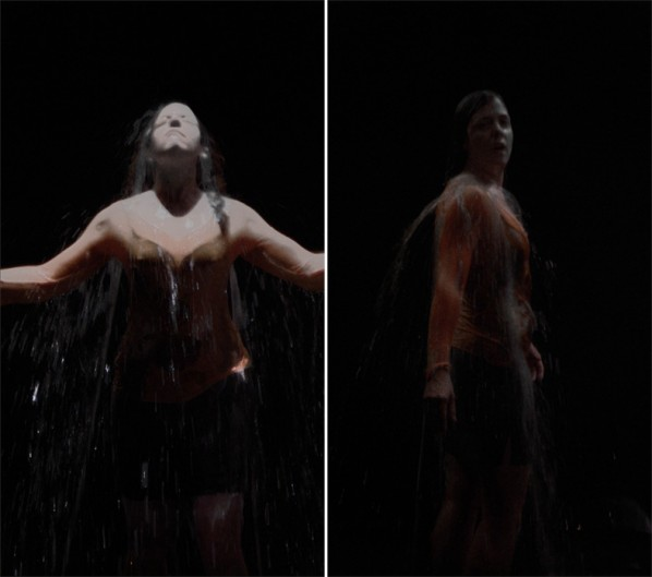 BILL VIOLA-Melina, 2008; Color High-Definition video on LCD panel, 24.8 x 14 x 2.36 inches; 63 x 35.5 x 6 cm