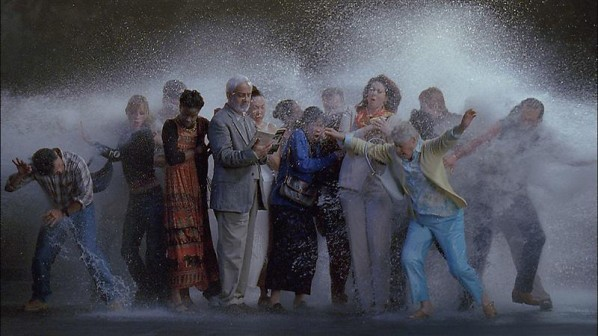 BILL VIOLA-Tempest (Study for The Raft), 2005; Color High-Definition video on flat panel display mounted on wall, 43 x 26 x 4 inches; 109 x 66 x 10.2 cm