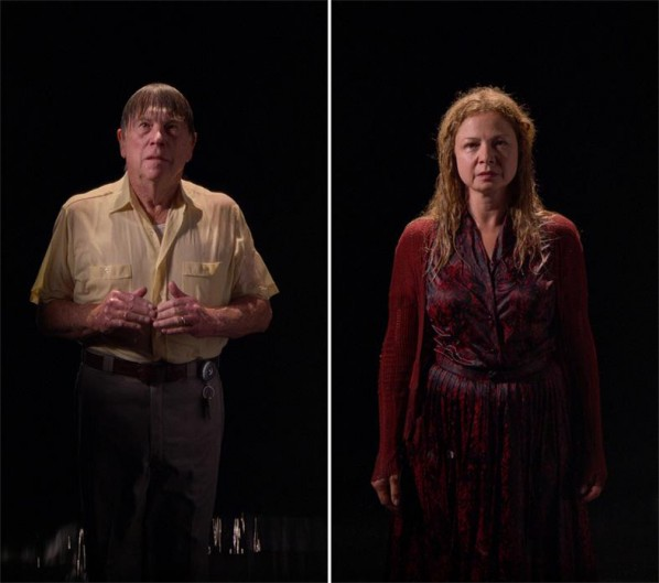 BILL VIOLA- The Far Shore, 2007; Color High-Definition video on LCD panel, 24.8 x 14 x 2.36 inches; 63 x 35.5 x 6 cm