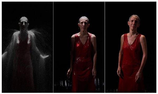 BILL VIOLA-The Return, 2007; Color High-Definition video on plasma display mounted on wall; stereo sound, 47.5 x 28.5 x 4 inches; 120.7 x 72.4 x 10.2 cm