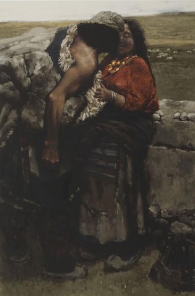 Chen Danqing-Sheepherder, Series of Tibet