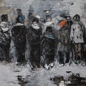Gun Sun-Teenagers, 2012; arcylic on canvas, 260cm x 200cm