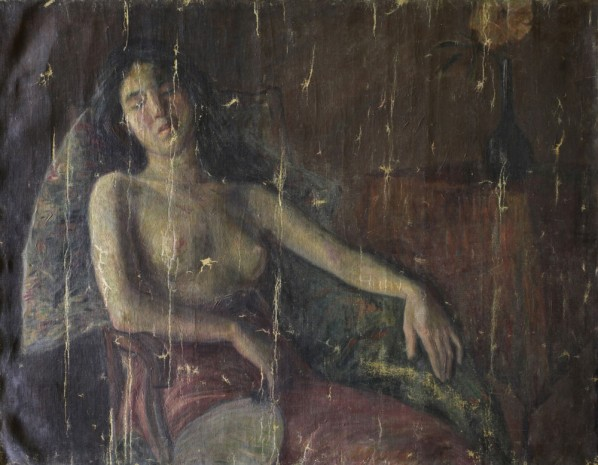 Li Shutong, A Half-naked Woman; Oil on Canvas, 91x116.5cm(collected in CAFA Art Museum)