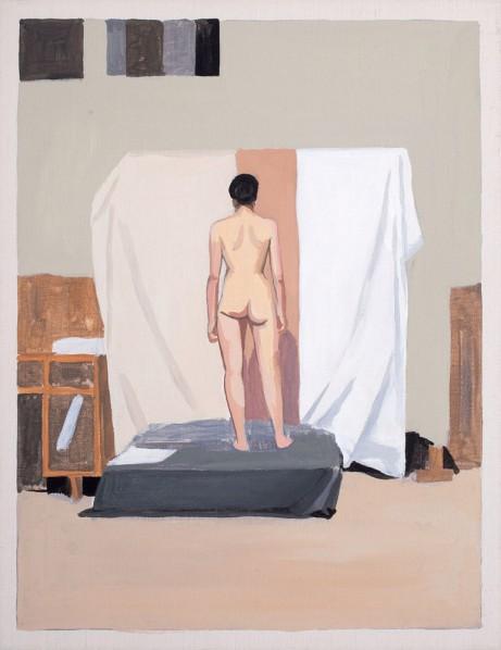 Liu Xiaohui-A Day Being a Model, 2011; acrylic on canvas, 31.5 x 41 cm