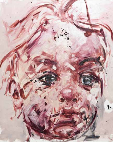 Philippe Pasqua-Baby with Red Hair, 2011; oil on canvas, 200X220cm
