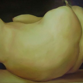 Qin Guanwei-Bananas;oil on canvas, 90×70cm