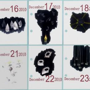 Shi Haopeng-2010 Desk Calendar Dec. 15th-24th, 2010; crayons on paper, 10×13cm×10