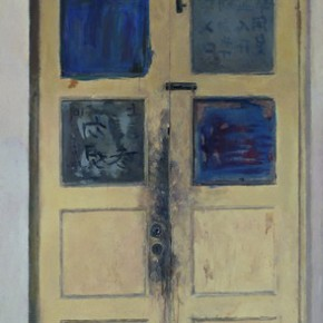 Sun Xun-Door, 2000; Acrylic on Canvas, 267x130cm