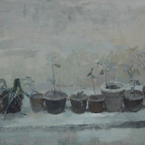 Sun Xun-Flower Pot-No.2, 2011; Mix Media, 200x300cm