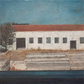 Wang Qiao- Rear Window I, 2008; oil painting, 30x30cm