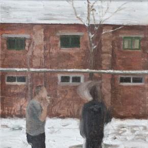 Wang Qiao- Rear Window II, 2009; oil painting,30x20cm