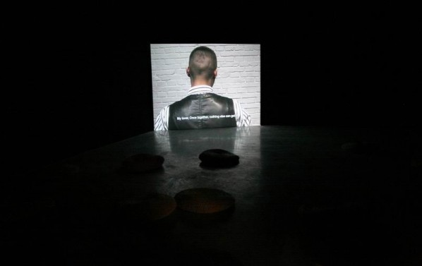 """Yan Xing- """"DADDY Project""""2011 behavior, video installation, dimension variable"""