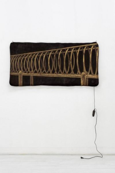Zang Kunkun, Brown Series of Electric Blanket, propylene and other mixed media, 80×160×1cm, 2011