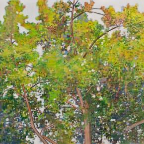 Zhang Hui-Trees I, 2010; acrylic on canvas, 132×96.5cm