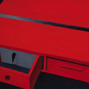 06 Kang Haitao, The Red Table, 2004; 79×107cm