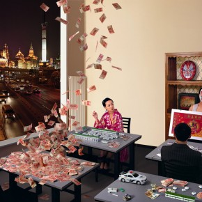 "08 Tamen Bund, Shanghai Bund, from ""The Same Room"" series, 2007, Digital chromogenic print,39 ¼ x 50 in"
