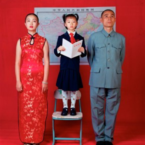"""11 Weng Fen, Wish for Patriotism, from the """"Family Aspirations"""" series, 2000, Digital chromogenic print"""