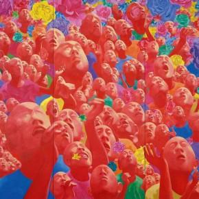 Fang Lijun, 2002.1.1; oil on canvas, 400×680cm