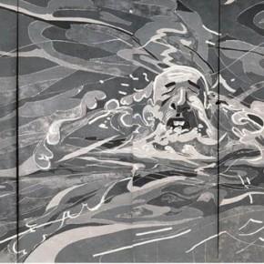 Fang Lijun, 2003.3.1; oil on canvas, 400×852cm