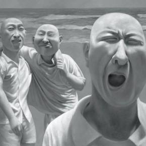 Fang Lijun, Series 01(No.03), 1990-1991; oil on canvas, 80.2×100cm