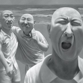 Fang Lijun, Series 01(No.03), 1990-1991; oil on canvas, 80.2×100cm