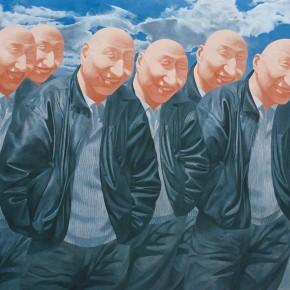 Fang Lijun, Series 02, 1991-1992; oil on canvas, 200×200cm