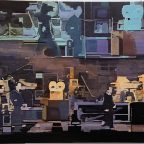 Han Bing-07:50:42, 2012; oil on canvas, 101.6X152.4cm