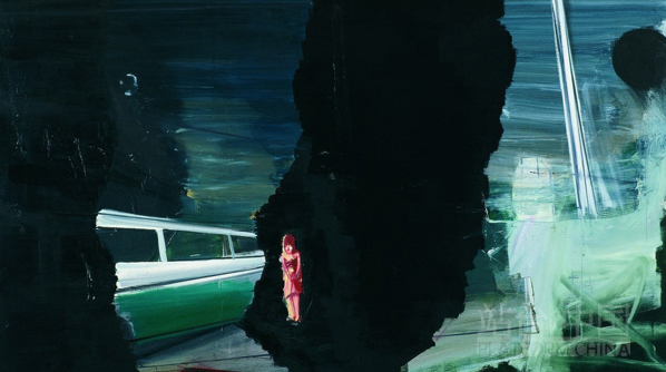 Out Doors, 2009; Oil on Canvas, 133x236cm