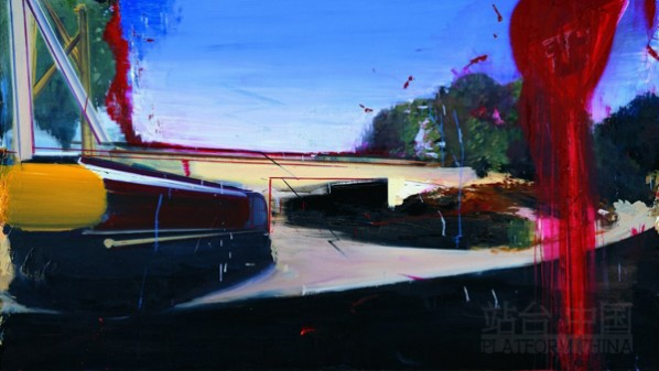 Overpass, 2009; Oil on Canvas, 236x133cm