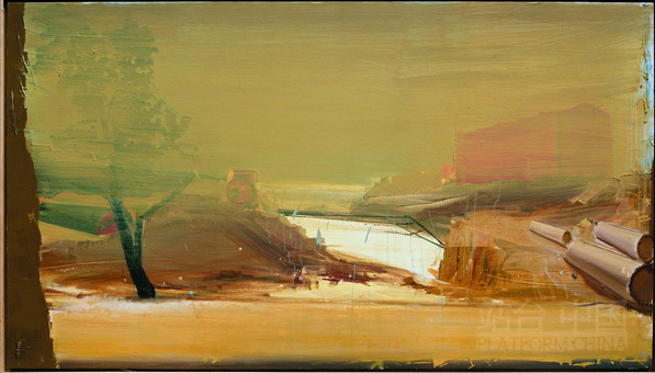 Sand Storm, 2010; Oil on Canvas, 133x236cm