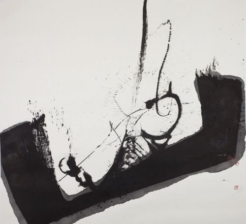 Shao Yan-The Tranquil, 2010; ink on paper, 200x200cm
