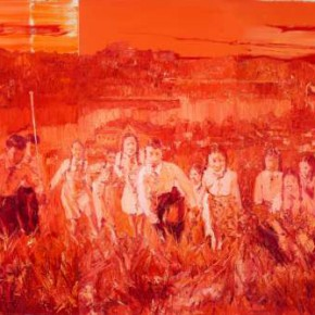 Chen Ke, Red-Gathering No.1, 2011; oil on canvas, 200×300cm