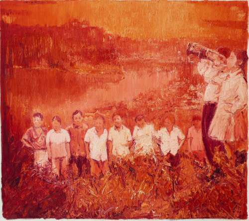 Chen Ke, Red-Gathering No.2, 2011; oil on canvas, 200×180cm