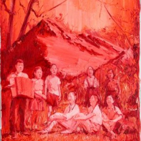 Chen Ke, Red-Sacred Moutain No.4, 2011; oil on canvas, 200×160cm