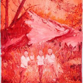 Chen Ke, Red-Sacred Moutain No.6, 2011; oil on canvas, 200×160cm