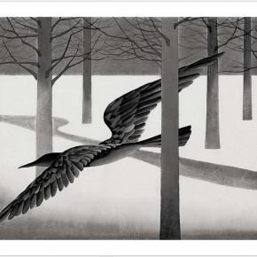 Chen Qi, Minor Snow, 1992; water print, 20 editions, 63X87cm