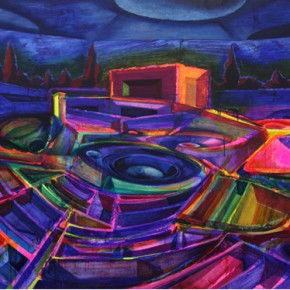 Colosseum, 2011; oil and acrylic on canvas, 208X336cm