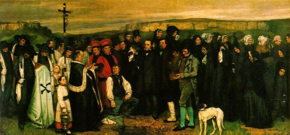 Gustave Courbet, Burial at Ornans, 314x663cm