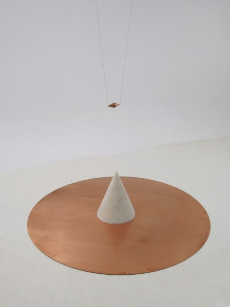 Installation, As We Wander, We See The Flicking Flame In The Wasteland, 2012; solid alcohol, bronze plate and fire