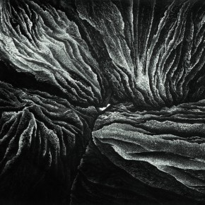 Jia Youfu, Penetrating the Solid Barrier, 1988; ink on paper, 180cm×180cm