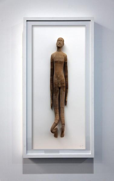 Li Hongbo, Smart Little Man, 2012; Paper, 131 x 66 cm