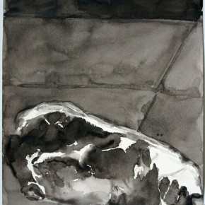 Shi Zhiying, Palomar--Marble and Blood, 2011-2012; Watercolor and ink on paper, 41×31cm