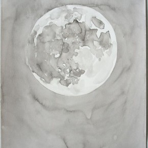Shi Zhiying, Palomar--Moon in the Afternoon, 2011-2012; Watercolor and ink on paper, 41×31cm