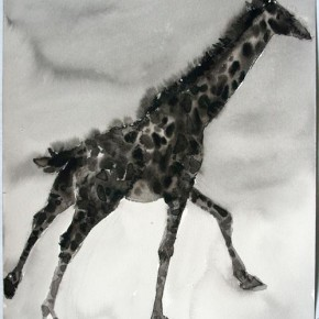 Shi Zhiying, Palomar, The Giraffe Race, 2011-2012; Watercolor and ink on paper, 41×31cm