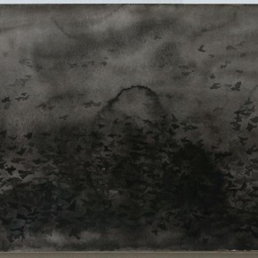 Shi Zhiying, Palomar--The Invasion of the Starlings, 2011-2012; Watercolor and ink on paper, 31×41cm