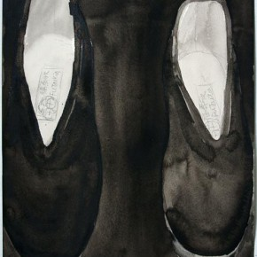 Shi Zhiying, Palomar--The Odd Slipper, 2011-2012; Watercolor and ink on paper, 41×31cm