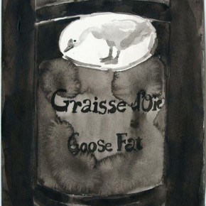 Shi Zhiying, Palomar--Two Pounds of Goose Fat, 2011 2012; Watercolor and ink on paper, 41×31cm