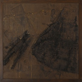 Sky, Earth and Time-Qu Qianmei Solo Exhibition, 2011 UCT-05; mixed media, 200cmx200cm