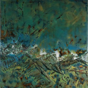 Sky, Earth and Time-Qu Qianmei Solo Exhibition, 2012; L-12, mixed media, 200cmx200cm